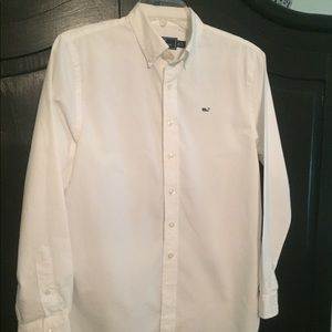 EUC Boys Vineyard Vines white button down shirt